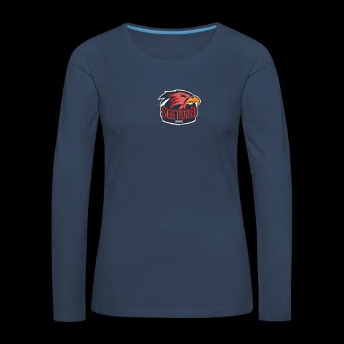 Sektion9 logo Rot - Frauen Premium Langarmshirt