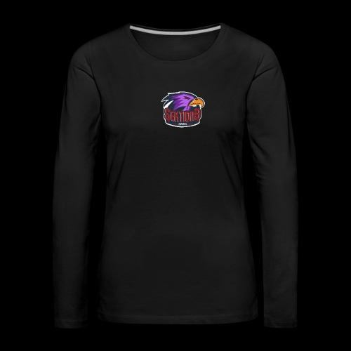 Sektion9 logo lila - Frauen Premium Langarmshirt