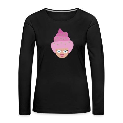 Ice cream girl - Dame premium T-shirt med lange ærmer