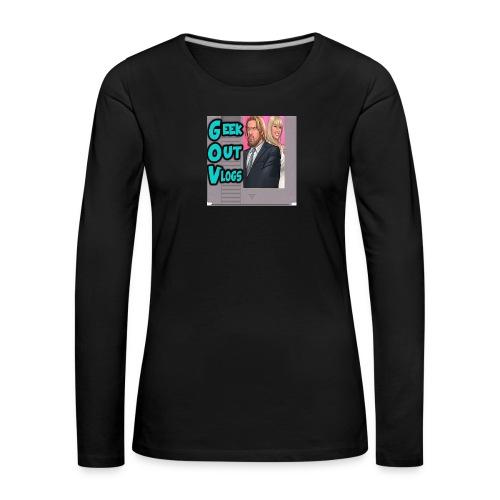 GeekOut Vlogs NES logo - Women's Premium Longsleeve Shirt