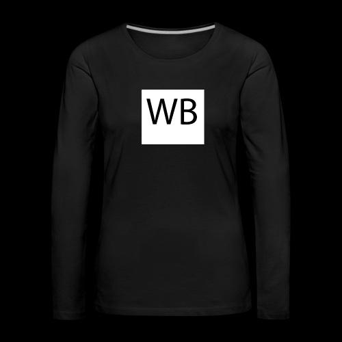 WB Logo - Frauen Premium Langarmshirt