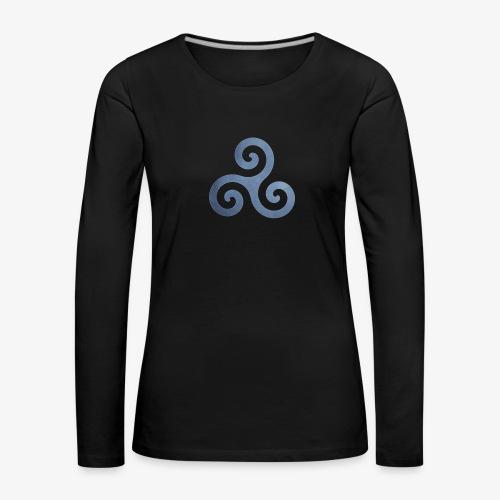 Trisquel 5 - Camiseta de manga larga premium mujer