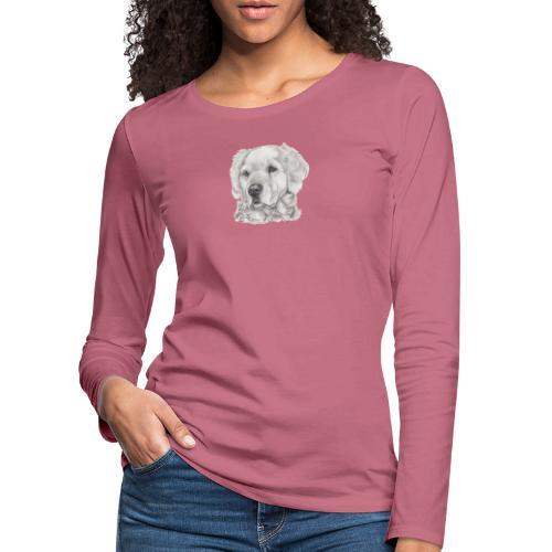 golden retriever - Dame premium T-shirt med lange ærmer