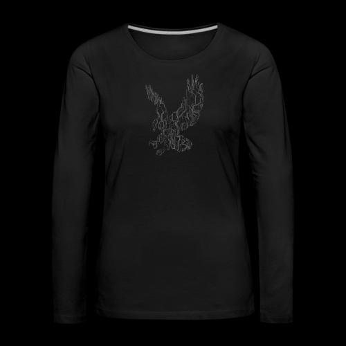 Circuit eagle White - Dame premium T-shirt med lange ærmer