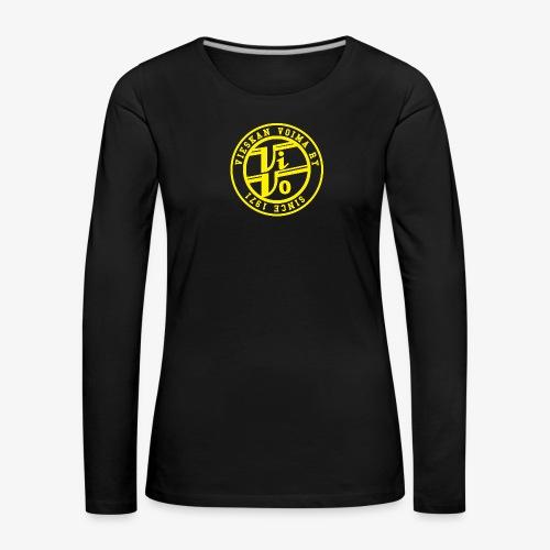 ViVoPAITA transparent - Naisten premium pitkähihainen t-paita