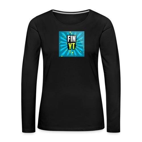 Uusi Youtube Logo - Naisten premium pitkähihainen t-paita