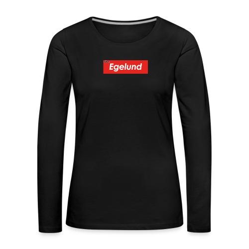 Albert Egelund Box Logo - Dame premium T-shirt med lange ærmer