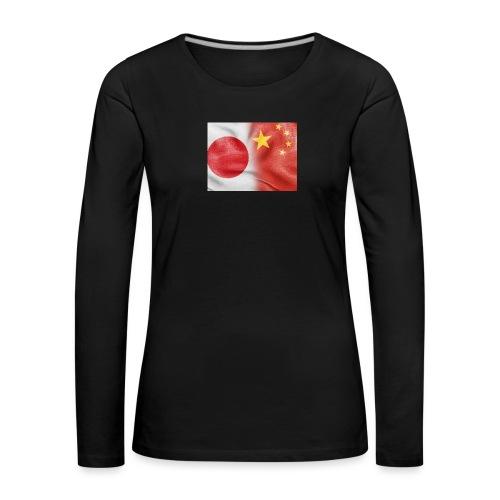 japan china flag - Maglietta Premium a manica lunga da donna
