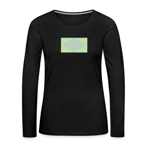 H - Maglietta Premium a manica lunga da donna