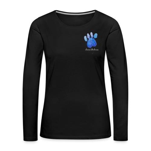 Tierfreund Choose Kindness Hundepfote Wasserfarben - Frauen Premium Langarmshirt