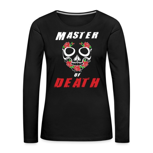 Master of death - white - Koszulka damska Premium z długim rękawem