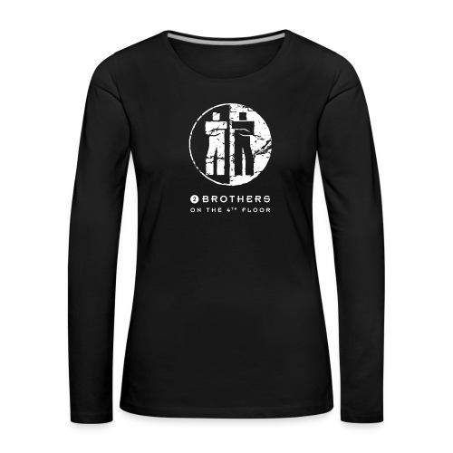 2 Brothers White text - Women's Premium Longsleeve Shirt