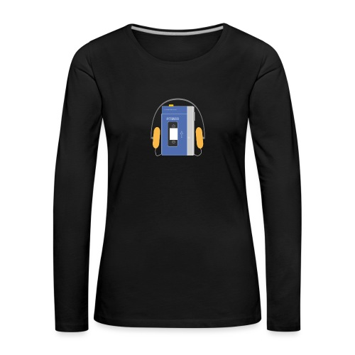 Stereo walkman in blue - Women's Premium Longsleeve Shirt
