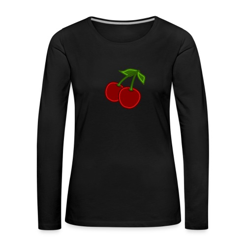 cherry - Koszulka damska Premium z długim rękawem