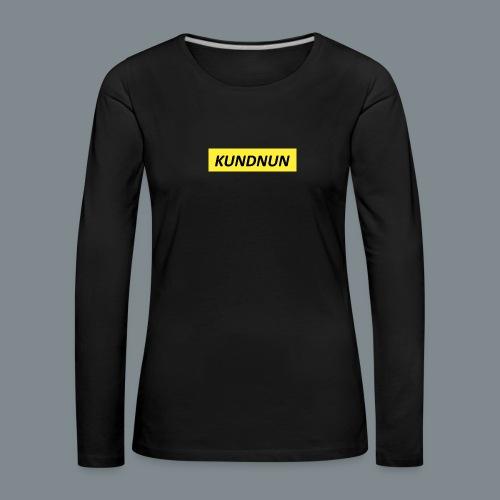 Kundnun official - Vrouwen Premium shirt met lange mouwen
