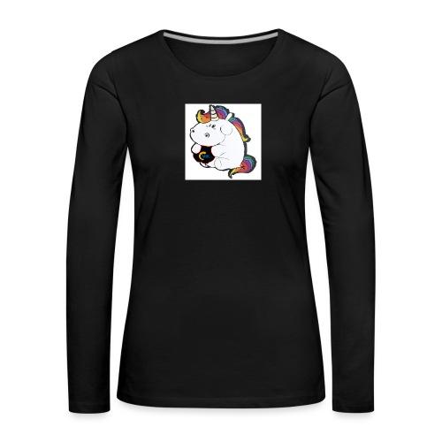 MIK Einhorn - Frauen Premium Langarmshirt