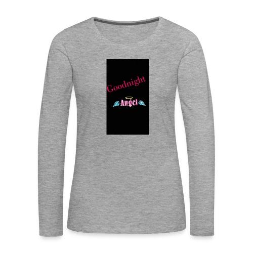 goodnight Angel Snapchat - Women's Premium Longsleeve Shirt