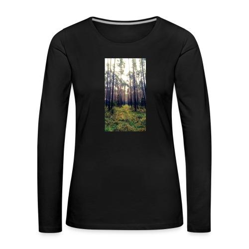 Las we mgle - Koszulka damska Premium z długim rękawem
