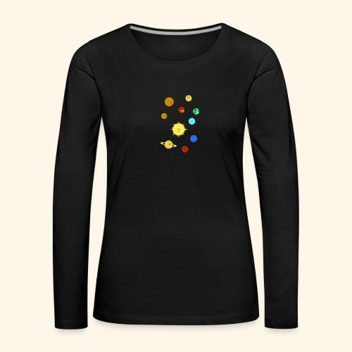 Solsystemet - Långärmad premium-T-shirt dam