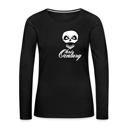 logo Chris Century blanc - T-shirt manches longues Premium Femme