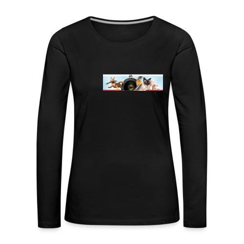 Animaux logo - Vrouwen Premium shirt met lange mouwen