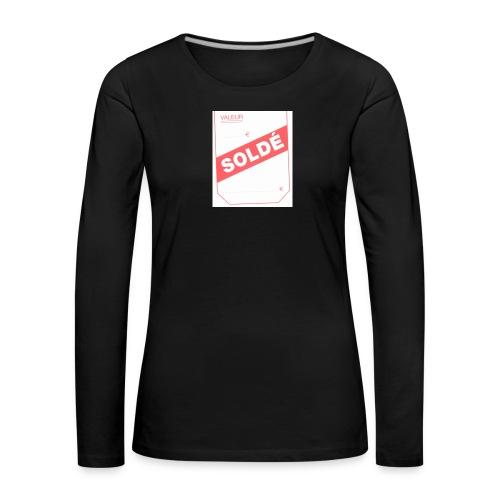 soldé - T-shirt manches longues Premium Femme