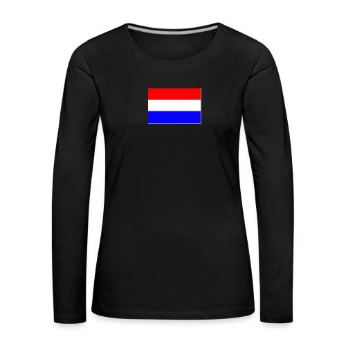 vlag nl - Vrouwen Premium shirt met lange mouwen