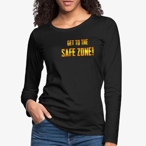 PUBG Get to the safe zone! - Frauen Premium Langarmshirt