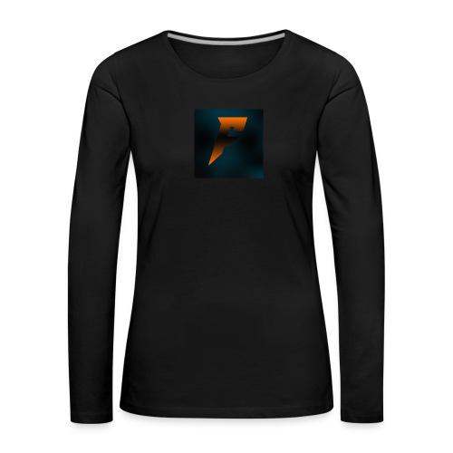 YoutubeLogo - Naisten premium pitkähihainen t-paita