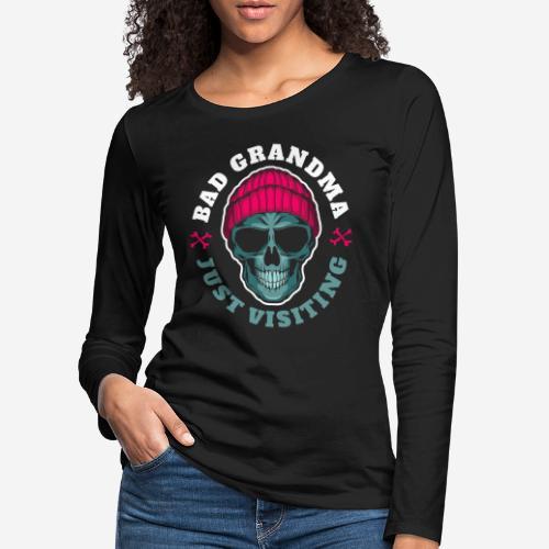 bad oma Großmutter - Frauen Premium Langarmshirt