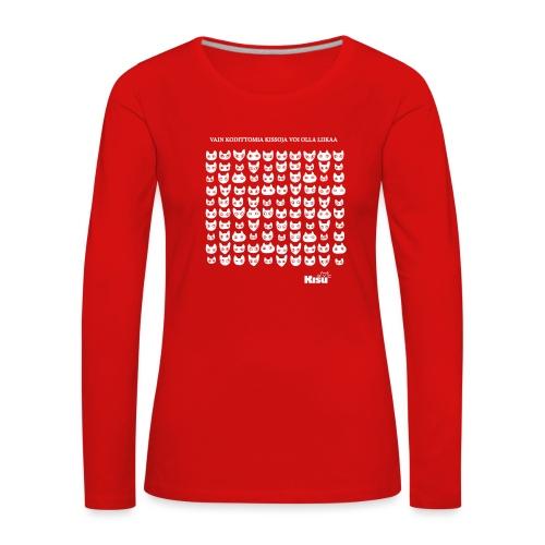 vain kodittomia valkoinen - Naisten premium pitkähihainen t-paita
