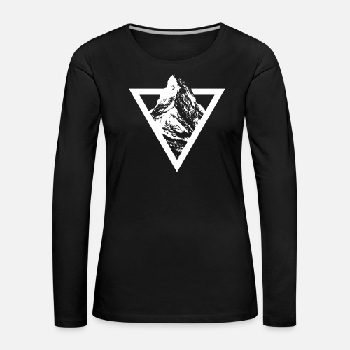MATTERHORN TRIANGLE SIMPLE - Frauen Premium Langarmshirt