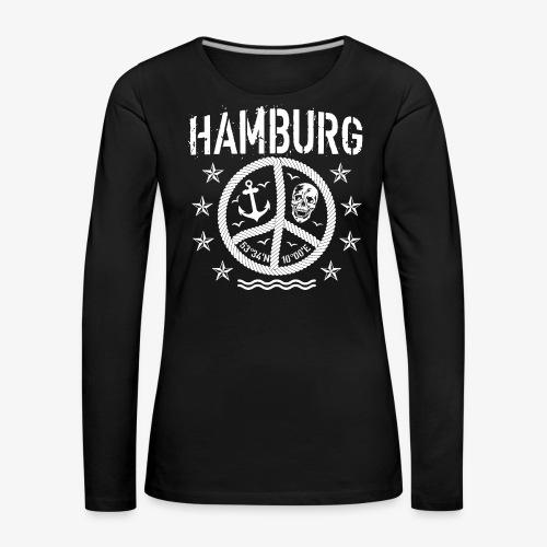 105 Hamburg Peace Anker Seil Koordinaten - Frauen Premium Langarmshirt