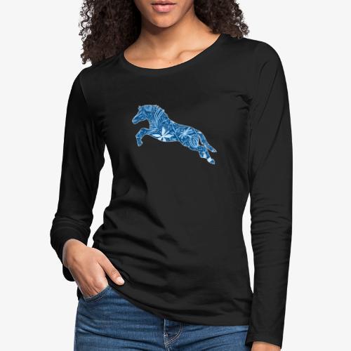 Flower Suokki IV - Naisten premium pitkähihainen t-paita