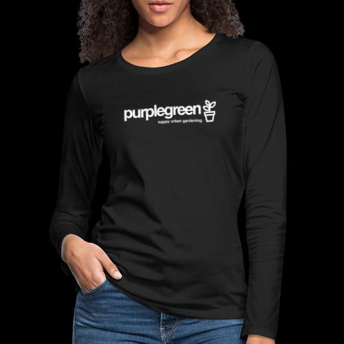 purplegreen classic - Frauen Premium Langarmshirt