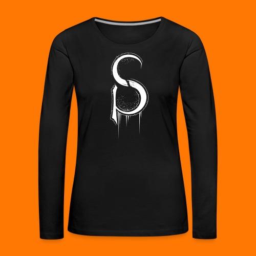 SCP-sign-WHITE transp - Women's Premium Longsleeve Shirt
