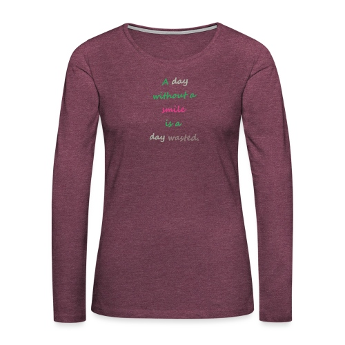 Say in English with effect - Women's Premium Longsleeve Shirt