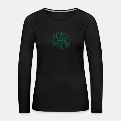 Snowflake molecule - Women's Premium Longsleeve Shirt