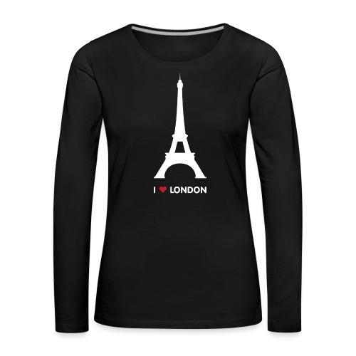 I love London - Vrouwen Premium shirt met lange mouwen