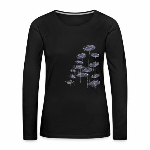 abstract bloemen 004 - Vrouwen Premium shirt met lange mouwen