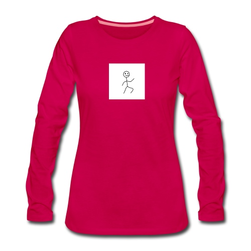 stick man t-shirt dance 1,0 - Dame premium T-shirt med lange ærmer