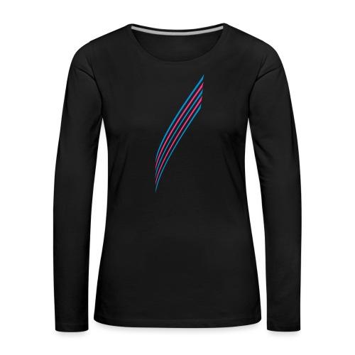 5 Stripes - Frauen Premium Langarmshirt