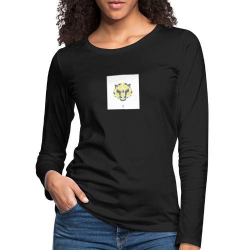 Tiger fra jungle - Dame premium T-shirt med lange ærmer