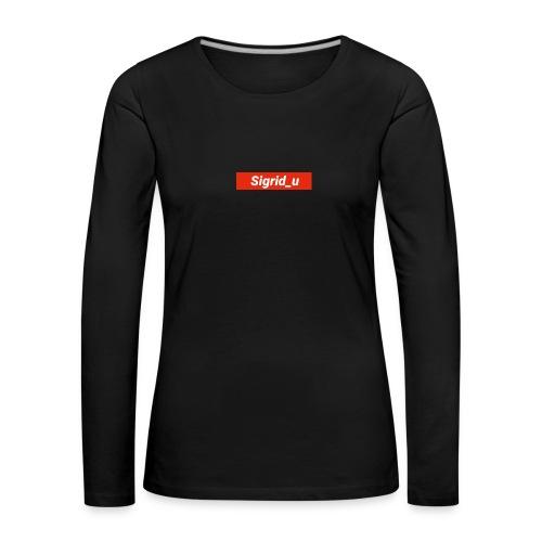 Sigrid_uBoxLogo - Premium langermet T-skjorte for kvinner