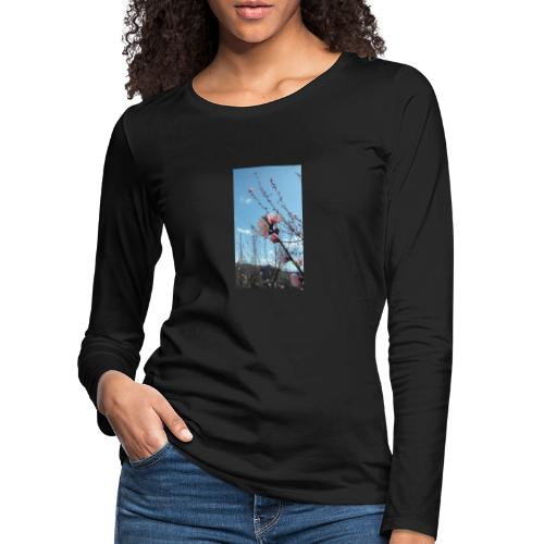 Fiore di pesco - Maglietta Premium a manica lunga da donna