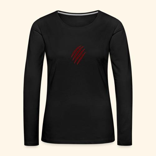 garras - Camiseta de manga larga premium mujer