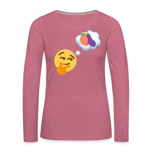 Johtaja98 Emoji - Naisten premium pitkähihainen t-paita