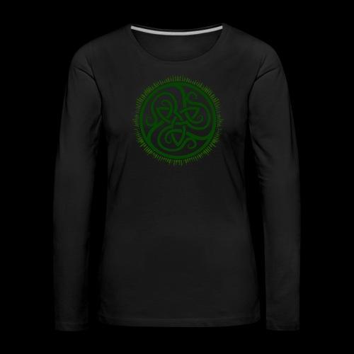 Green Celtic Triknot - Women's Premium Longsleeve Shirt