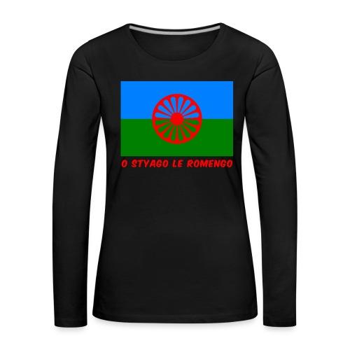 o styago le romengo flag of romani people t-shirt - Maglietta Premium a manica lunga da donna