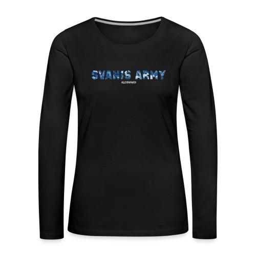 SVANIS ARMY (ALEXSVANIS VIT) - Långärmad premium-T-shirt dam